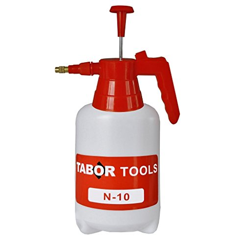 TABOR TOOLS Pump Pressure Sprayer, Garden Hand Sprayer & Mister for Water, Herbicides, Fertilizers, Mild Cleaning Solutions and Bleach. N-10. (0.3 Gallon) from TABOR TOOLS
