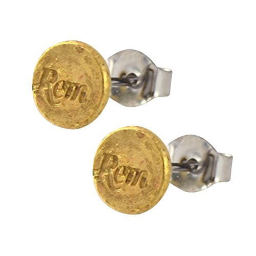 Little Black Gun 22 Caliber Bullet Shell Stud Earrings, Thin Brass Casing