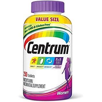 Centrum Women (250 Count) Multivitamin / Multimineral Supplement Tablet, Vitamin D3