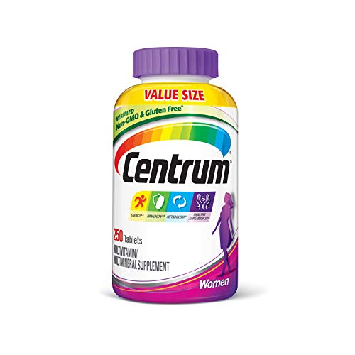 Centrum Women (250 Count) Multivitamin / Multimineral Supplement Tablet, Vitamin D3 (Best Vitamin E For Women)