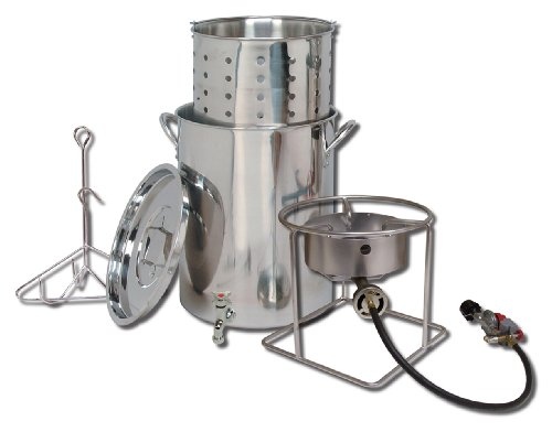 King Kooker  SS1267SBSP  Stainless Steel Cooker, Pot and Basket System