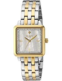 Womens Washington Square Quartz Watch with Stainless-Steel Strap, Silver, 14 (Model