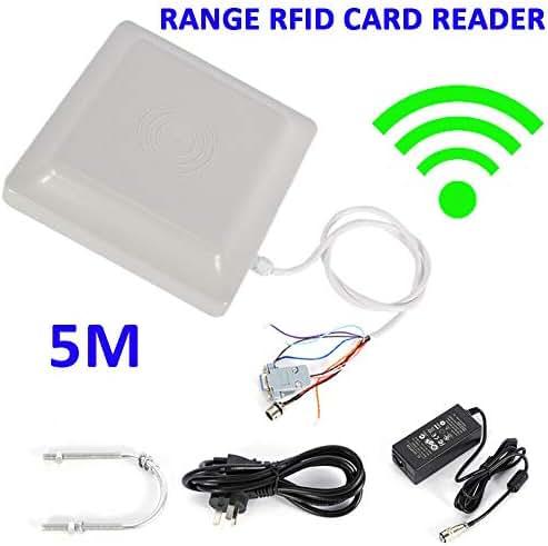 Jacksking RFID Card Reader Waterproof Outdoor 35m//114.8ft UHF RFID USB Vehicle Parking Warehouse Access Reader for WG26//34 RS232 RS-485 US Plug