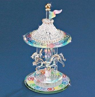 Glass Carousel - Glass Baron Carousel Figurinev