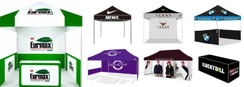 Amazon.com  Eurmax Custom Tents Custom Printed Canopy Top Cover Only (10x10)  Outdoor Canopies  Garden u0026 Outdoor  sc 1 st  Amazon.com & Amazon.com : Eurmax Custom Tents Custom Printed Canopy Top Cover ...