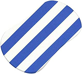 product image for SheetWorld Fitted 100% Cotton Percale Bassinet Sheet Fits Halo Bassinet Swivel Sleeper 17 x 30, Royal Blue Stripe, Made in USA