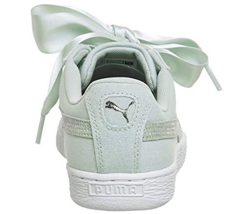 Basket 366495 Puma Pastel Blue Silver 03 Bianco Heart Canvas Sneakers Wn's Celeste p77dq
