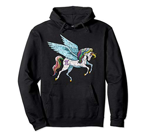 (Pi Day Hoodie Kids Unicorn Pi Magical Math Girls Boys Womens)
