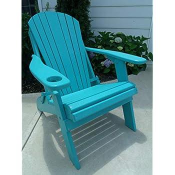 Amazon Com Poly Fan Back Adirondack Chair Patriot Blue