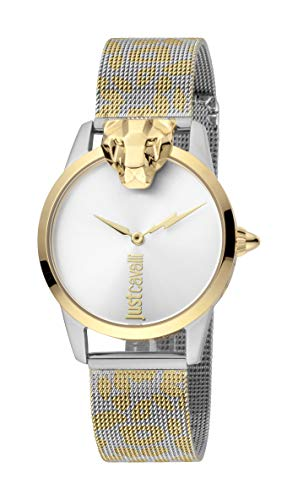 Just Cavalli JC1L057M0295 316L Stainless Steel Mineral Crystal Deployment Buckle Watch