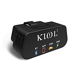 PLX Devices Kiwi 3 Bluetooth OBD2 OBDII Diagnostic Scan Tool for Android, Apple, Windows Mobile