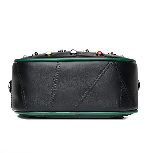 Colorful Handle Bags With Purse Mini Leather Womens Rivets Shoulder Crossbody Strap Bag DCRYWRX Top Black Clutch vHqSwOAP
