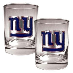 NFL New York Giants Two Piece Rocks Glass Set - Primary Logo