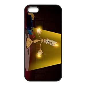 iPhone 5 5s Cell Phone Case Black Disneys Beauty and the Beast 045 HF1522575