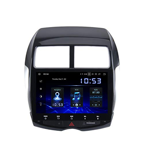 "Dasaita 10"" Android 10.0 Bluetooth Car Stereo for Mitsubishi ASX ASX Outlander Sport Without Factory Rockford System Head Unit with 4G RAM 64G ROM Car Radio Touch Screen GPS Navigation Dash Kit"