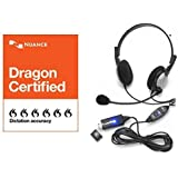 Nuance Dragon Medical USB Headset with Noise Cancelling boom Microphone