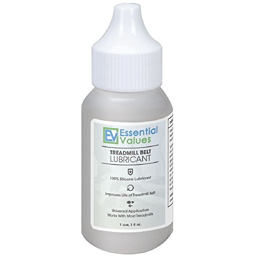 Treadmill Belt Lubricant - 100% Silicone Universal Treadmil Belt Lube, Made in USA By Essential Values Treadmill Belt