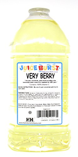 Juice Burst Very Berry 100% Juice Concentrate - No Artificial Color Added - OU Kosher Certified - Ideal for Daycare Schools Cafeterias Churches - 64 Oz