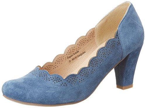 Andrea Conti Damen 3003409 Pumps Blau (Jeans)
