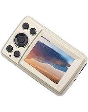 Digitale videocamera, Mini Outdoor 2,4 inch LCD-scherm 2MP 720P 30FPS 4X Zoom HD Digitale video Invullicht Camera Camcorder, voor fotografische opnamen(goud)