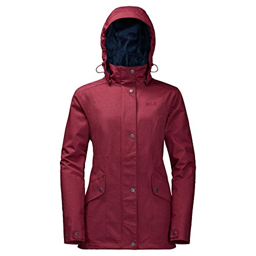 Jacket Park Weather Protection Women's Dark Avenue Jacket Wolfskin Womens Park Red Jack Avenue 84avqwO