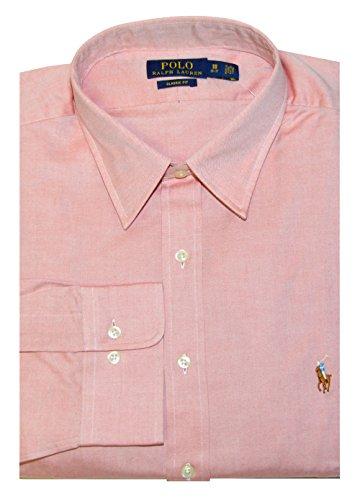 Polo Ralph Lauren Men Classic Fit Solid Shirt (17.5(36-37), Orange)