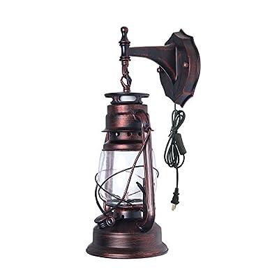Rural With Plug in Lantern Wall Lamp- Retro Kerosene wall Sconce
