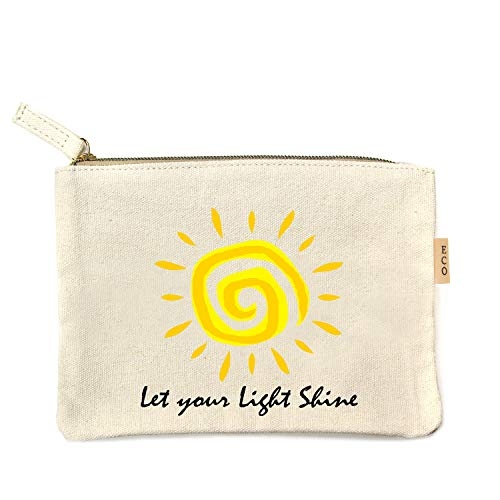 Me Plus Eco Zipper Pouch Stylish Printed, Traveler Organizer, Cosmetic Small Makeup, Students BTS Organization Bag - 22 Pattern options (Let your light shine) (Let Your Light Shine Vacation Bible School)