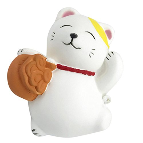 Joykith Stress Reliever 10cm Cute Cat Cream Scented Squishy Slow Rising Squeeze Strap Kids Toy Gifts (Two Person Hot Dog Costume)
