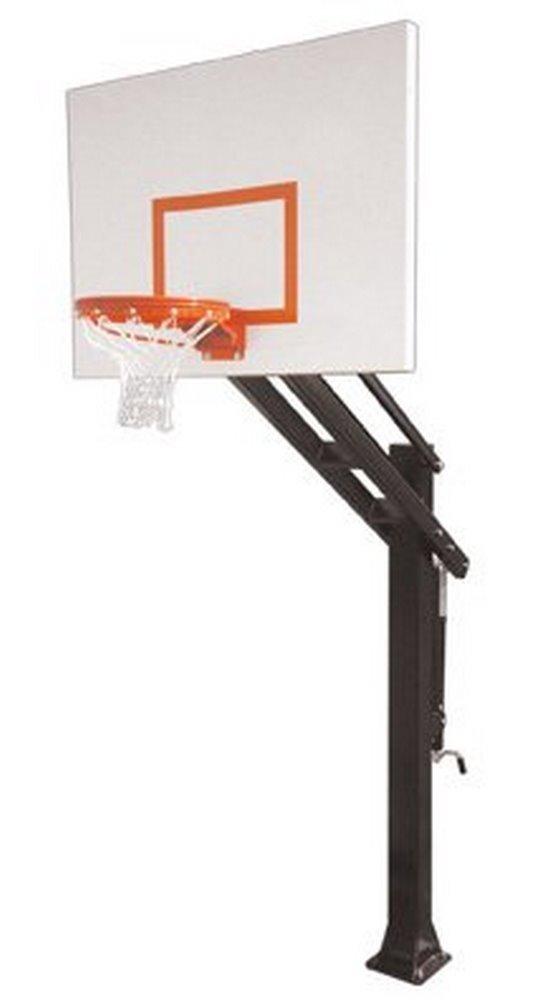 最初チームTitan Playgroundスチールin ground調整可能バスケットボールsystem44、スカーレット B01HC0EB9Q