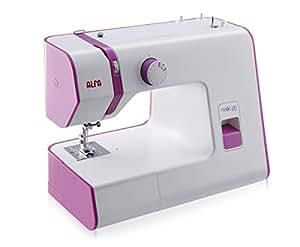 Alfa NEXT 20 - Máquina de coser con 13 puntadas, color rosa