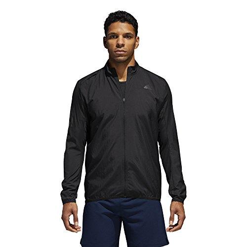 adidas Men's Running Response Wind Jacket, Black/Black, Medium