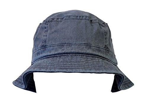 KC Caps Denim Summer Bucket Hat, Unisex Pigment Dyed Washed Garment Outdoor Hat by KC Caps (Image #2)