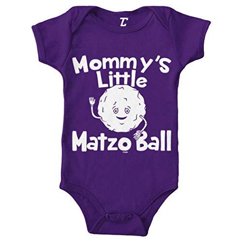 Mommy's Little Matzo Ball - Jewish Bodysuit (Purple, Newborn)