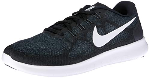 Nike Women's Free RN 2017 Running Shoe Black/White/Dark Grey/Anthracite Size 8.5 M US (Womens Nike Id)