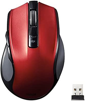 sanwasapurai Wireless Blue LED Mouse , red