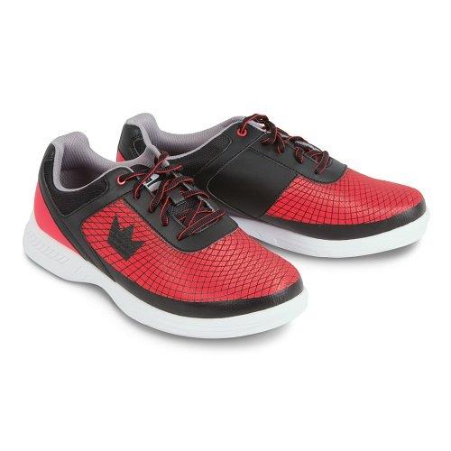 Brunswick Frenzy Mens Bowling Shoe Black/Red Wide, 12.0