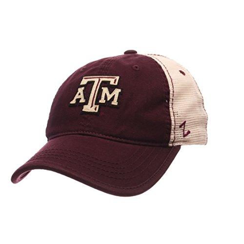 (ZHATS Texas A&M Aggies Summertime Adjustable Snapback Cap - NCAA Trucker Mesh, One Size Baseball Hat )