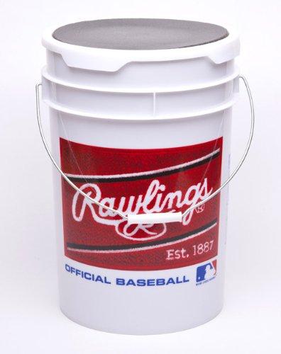 Rawlings Logo White Plastic Bucket ()