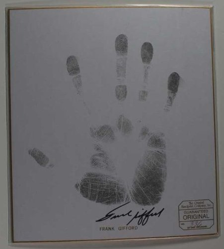 Print Autographed (Frank Gifford Signed Autographed Limited Edition & Numbered Handprint)