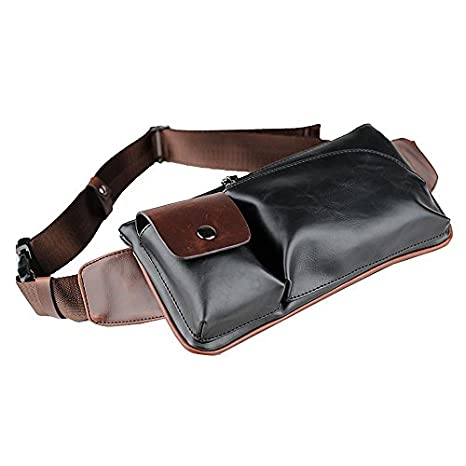 7a9f7d40f9 iVotre Vintage Style Cross Body Bag Crazy Horse Leather Waist Bag Brand New  Shoulder Sling Bag
