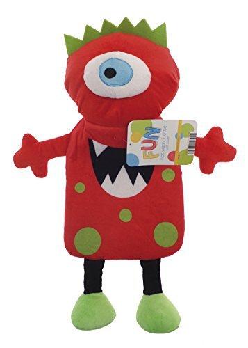 Kinder, 3D-Design, Motiv: Monster 1L Wärmflasche: Rot