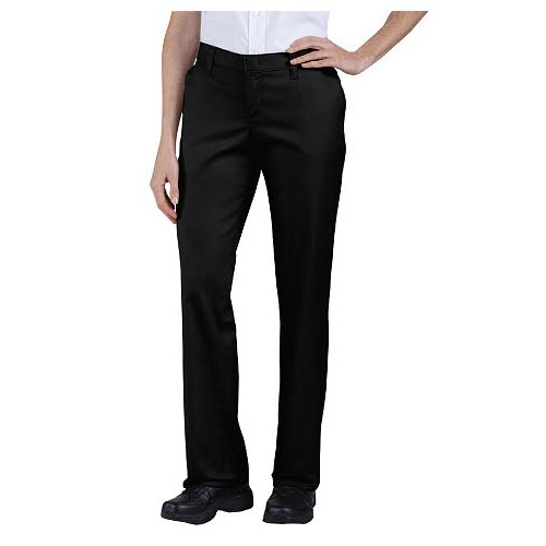 Dickies Women's Plus Size Wrinkle Resistant Flat Front Twill Pant with Stain Finish, Dark Navy, 22W Regular