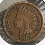 1900 U.S. Indian Head Cent / Penny Coin Penny Circulated Good and Better