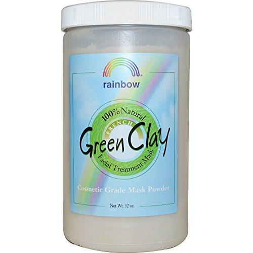 Rainbow Research French Green Clay Facial Treatment Mask Powder 32 oz