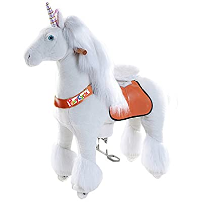 Vroom Rider X Ponycycle Ride-On Unicorn for 4-9 Years Old - Medium: Toys & Games