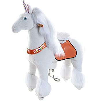 Vroom Rider X Ponycycle Ride-On Unicorn for 4-9 Years Old - Medium