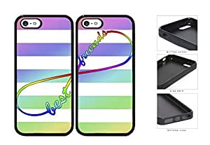 Tie Dye Infinity Symbol Best Friends Set Rubber Silicone TPU Cell Phone Case Apple iPhone 5 5s