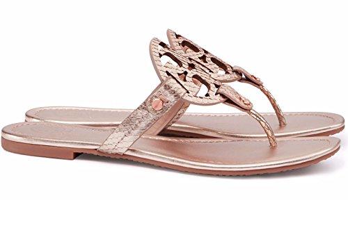 790adde98e364a Tory Burch Miller Flip Flop Leather Thong Sandal LOGO (9