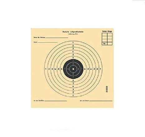 250 Stück Luftgewehrscheiben 14 x 14 cm mit 5 Spiegeln Zielscheibe Luftgewehr